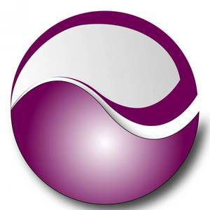 Medium purple ball logo